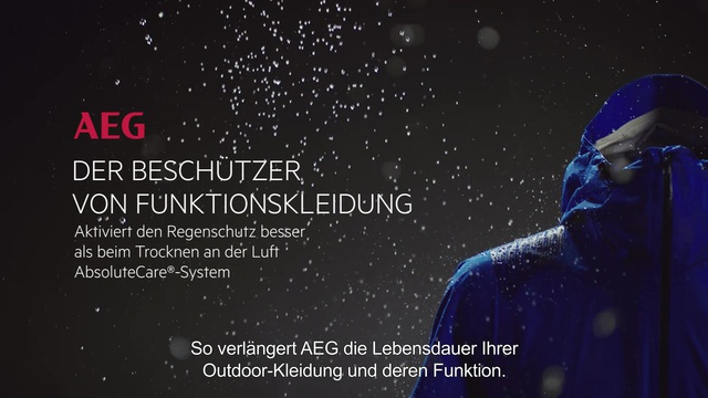 AEG - AbsoluteCare-System - Funktionskleidung Video 8
