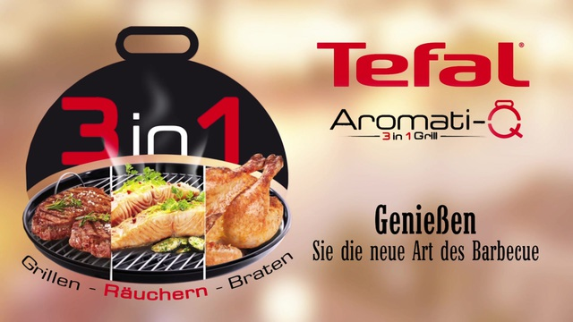 Tefal - Aromati-Q 3in1 Tischgrill (BG9108) Video 3
